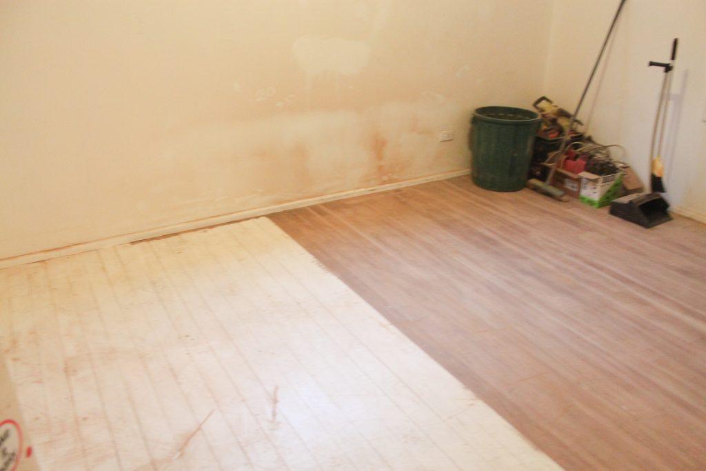 Bedroom, half the floor sanded