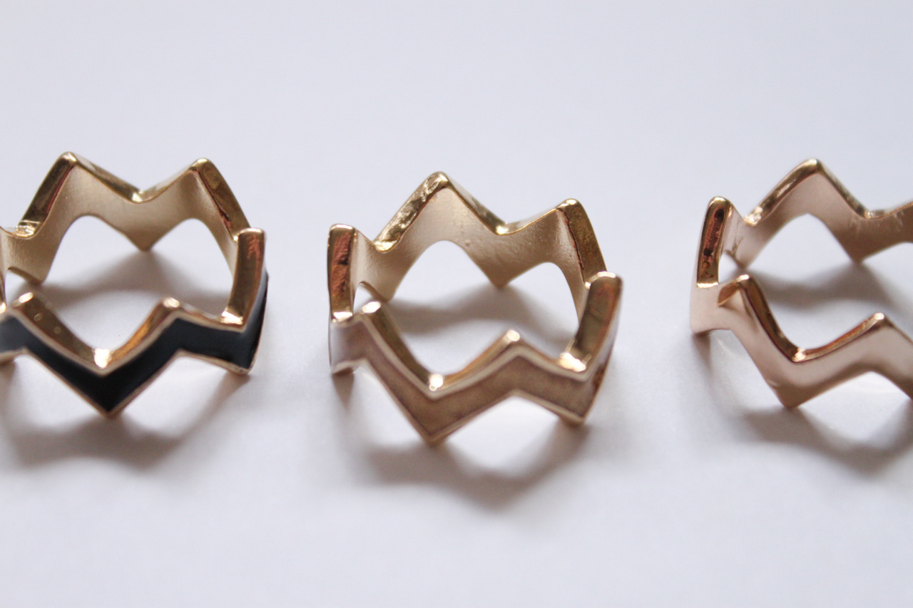 Gold stack rings from Equip.