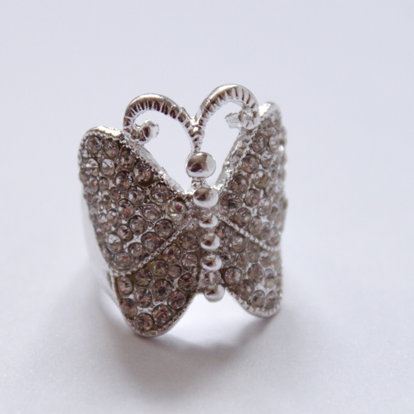 Silver butterfly ring from Equip.
