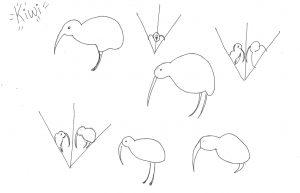 Rough Kiwi Sketches