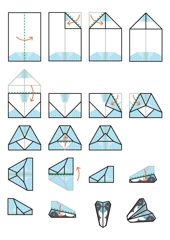 Folding Instructions: With Plane Design