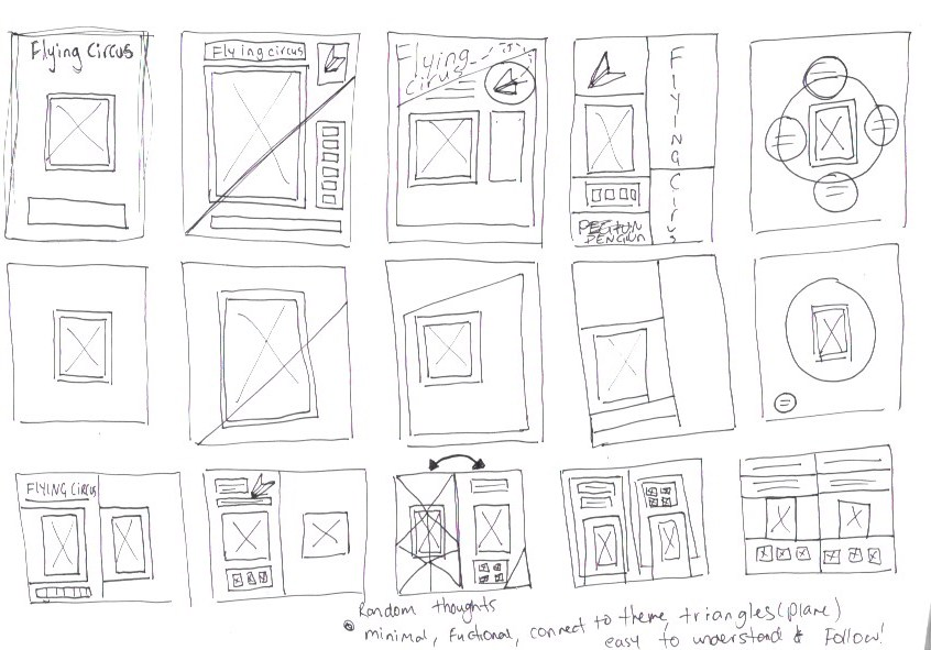 A3 Layout Sketches