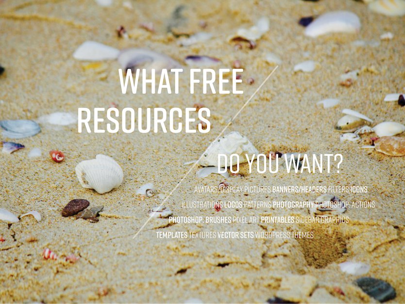 What free resources do you want?