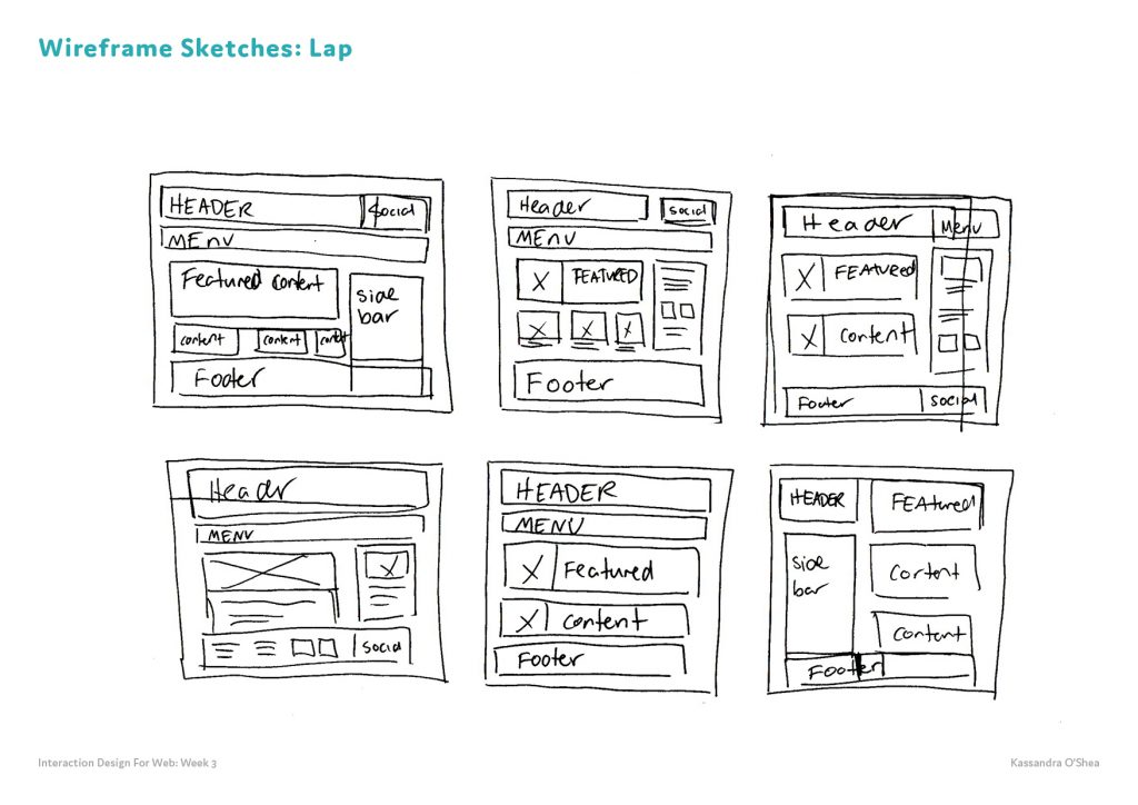 Wireframe Sketches Lap