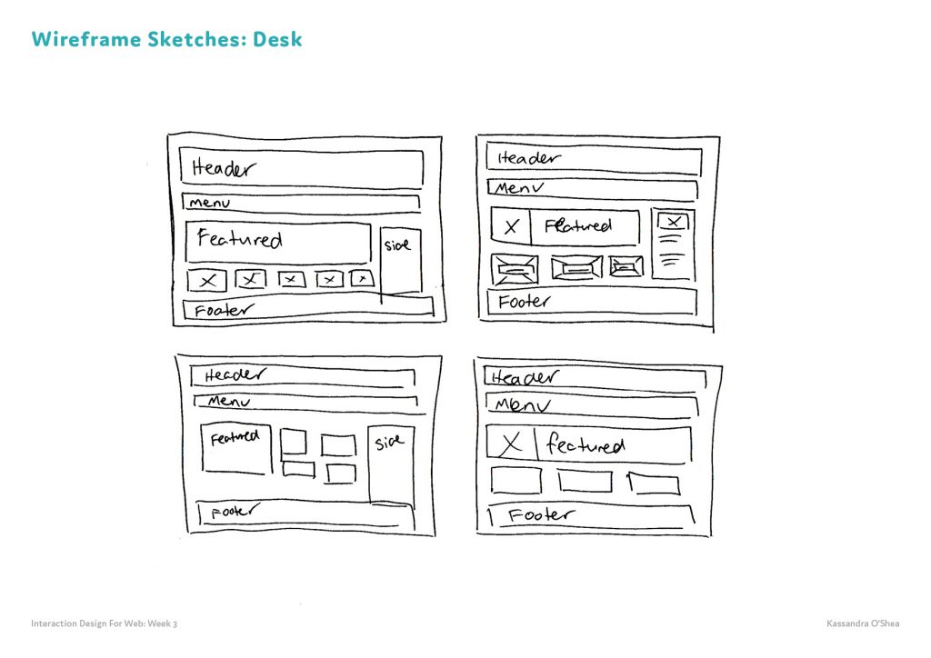 Wireframe Sketches Desk