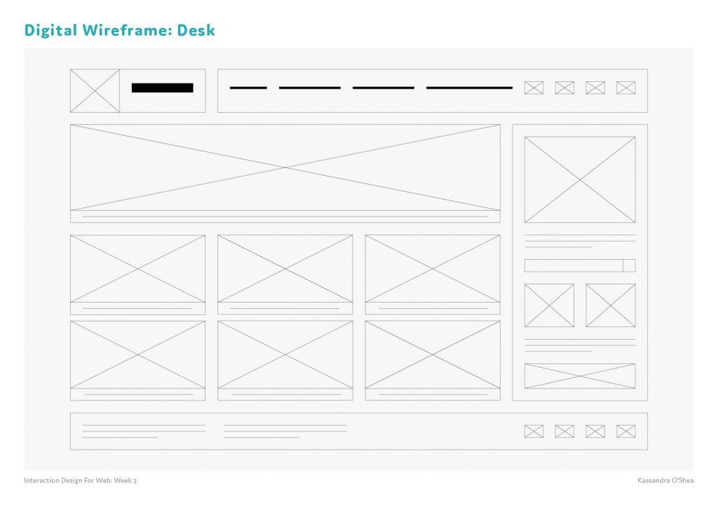 Digital Wireframes Desk
