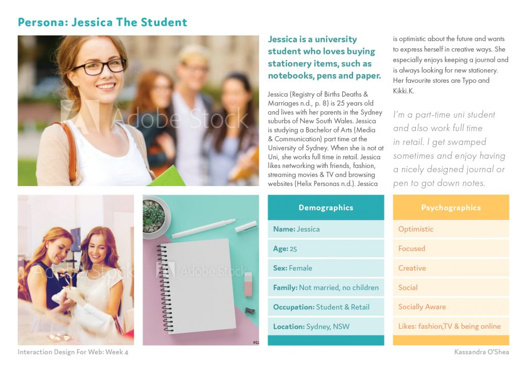 Persona: Jessica The Student