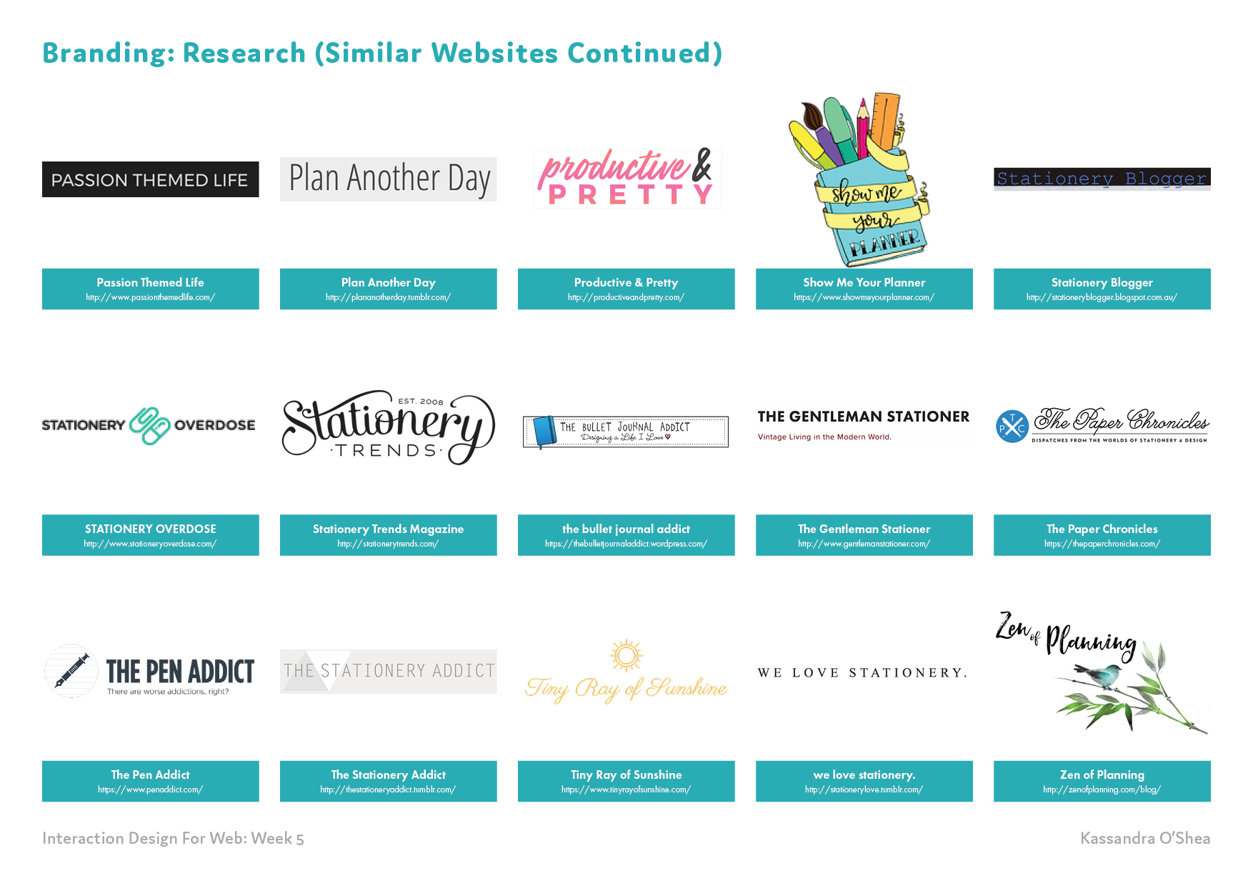 Branding: Research (Similar Websites)