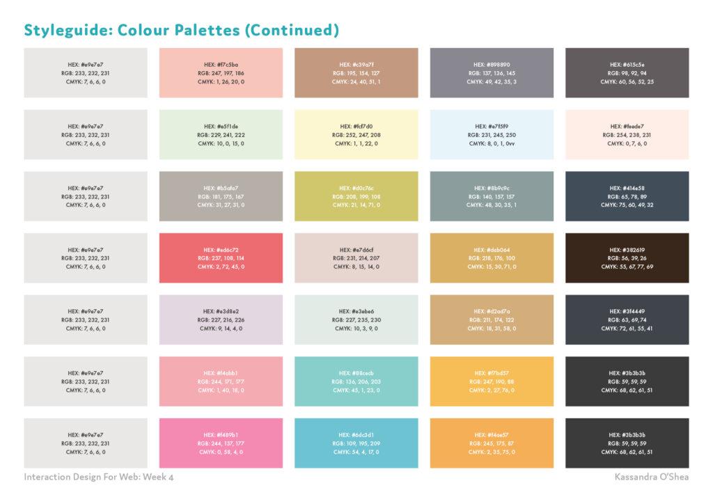 Styleguide: Colour Palettes