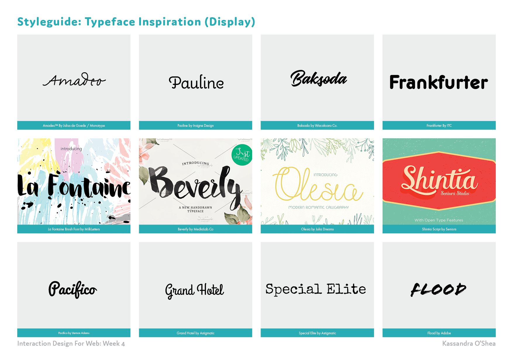 Styleguide: Typeface Inspiration (Display)