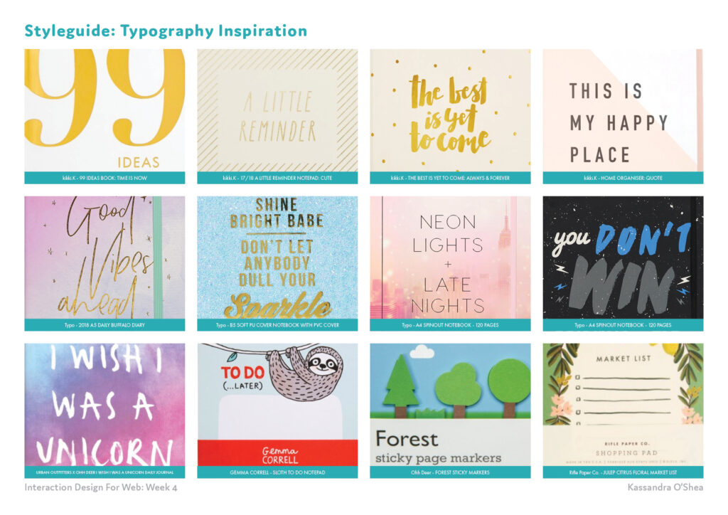 Styleguide: Typography Inspiration
