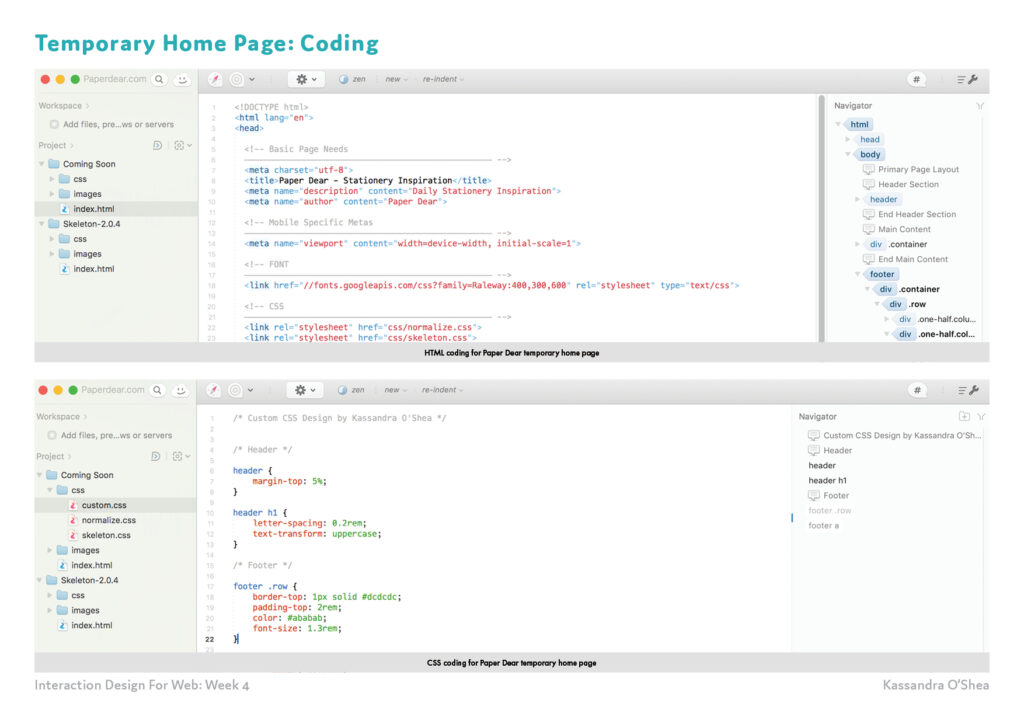 Temporary Home Page: Coding
