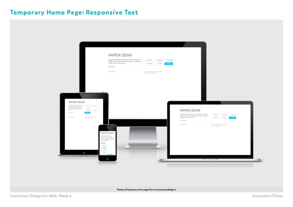 Temporary Home Page: Responsive Test