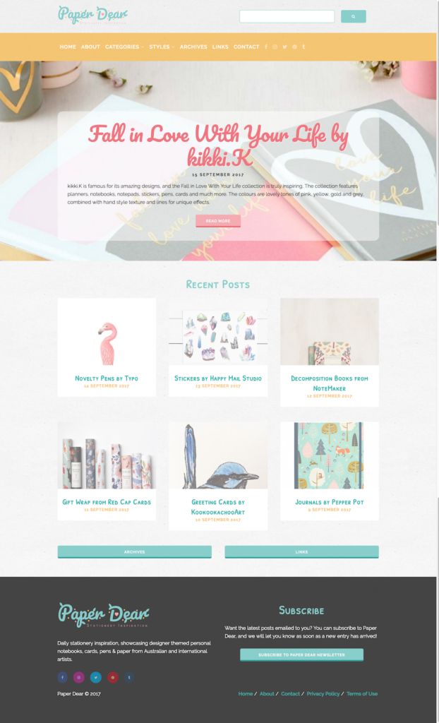 Paper Dear Home Page