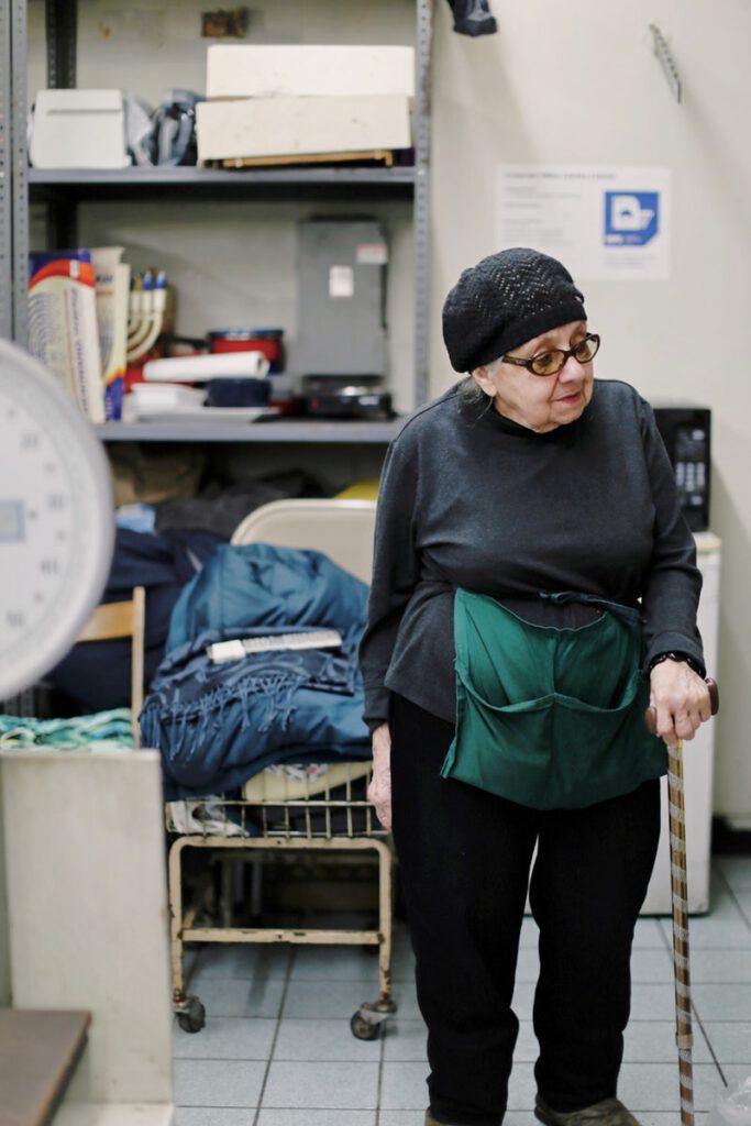 Senior worker at 1st Ave Laundry Center, New York. photo by Bianca Jordan 2018