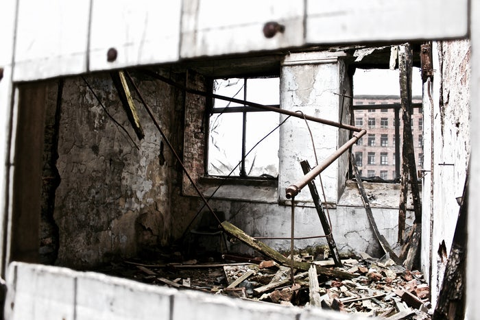Dilapidated building photo by Alissa Eady