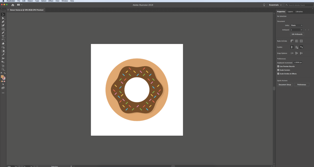 Editing Digital Vector Art: Step 1: Open the file ending in .ai with Adobe Illustrator
