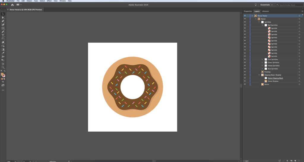 Editing Digital Vector Art: Step 3: Viewing layers
