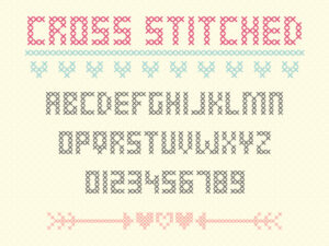 Cross Stitched - A free crafty cross stitch font
