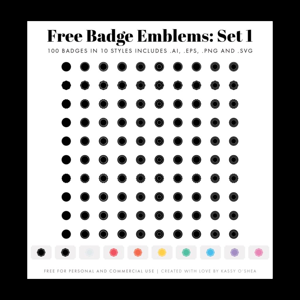 Free Badge Emblem Patches Set 1