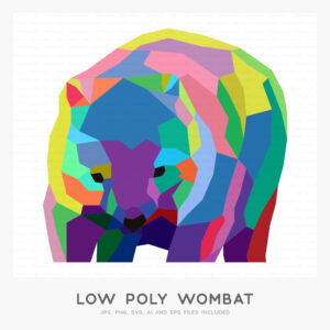 Low Poly Wombat (High-resolution JPG, PNG, SVG, AI and EPS files included)