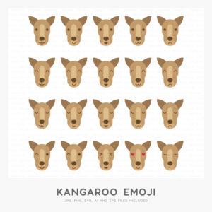 Kangaroo Emoji (High-resolution JPG, PNG, SVG, AI and EPS files included)