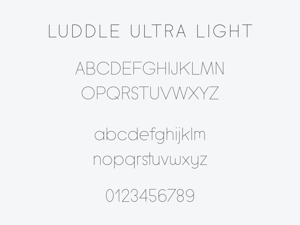 Luddle Font Family (Ultra Light)